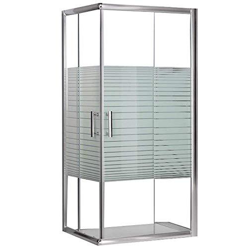Box doccia rettangolare in cristallo vetro mm.5 cm. 70x100 mod. Katariina serigrafato trasparente
