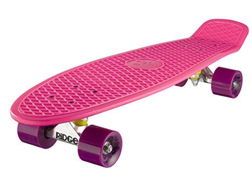 Ridge Retro 27 Skateboard, Unisex, Rosa, 69 cm