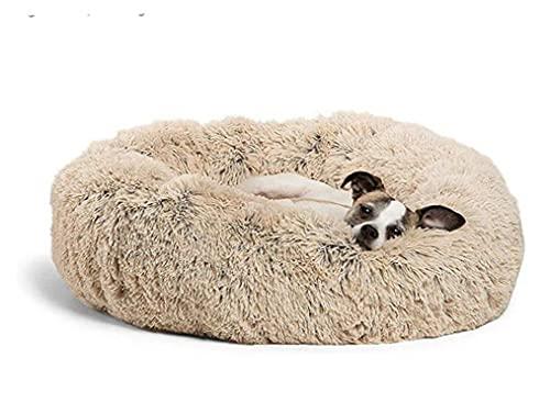 Tuimiyisou Felpa Gato Cama del Perro Calmante Donut Ronda Caliente Suave Antideslizante Jerarquía del Animal Doméstico Dormir Cuddler Lavable Cachorro Sofá 70cm