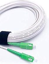Elfcam® - Câble/Rallonge Fibre Optique {Orange SFR Bouygues} - Jarretière Simplex Monomode SC-APC à SC-APC - Blindage et C...
