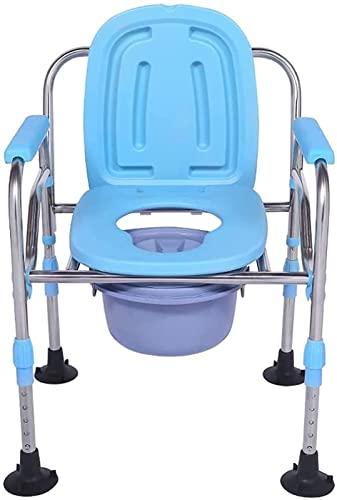 Taburete Baño,Silla o Taburete de baño WC asiento de la silla del inodoro for trabajo pesado caer el brazo bariátrica con orinal Cuidado con los brazos y Baño marco de seguridad for mayores,adultos As ⭐