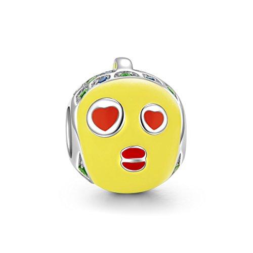 NINAQUEEN Charm Pandora Adattarsi Amore Pesce Idee Regalo Donna Argento 925 Smalto Perline per la Madre Fidanzata Moglie