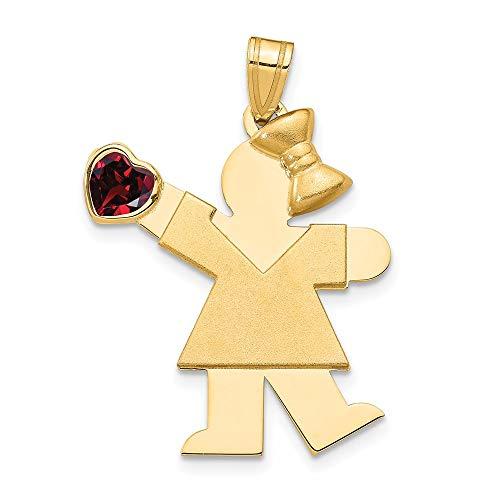 14-karatowe żółte złoto dziewczyna cyrkonia sześcienna Cz styczniowy kamień urodzenia wisiorek wisiorek wisiorek wisiorek dziecko elegancka biżuteria prezenty dla kobiet dla niej