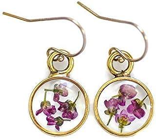 Alyssum Flower Earrings for Women 14k Gold Filled Ear Wire, 1