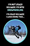 I'm Not Crazy Because I'm Into Snowmobiling. I'm Crazy Because I Love Doing This: Themed Novelty Lined Notebook / Journal To Write In Perfect Gift Item (6 x 9 inches)