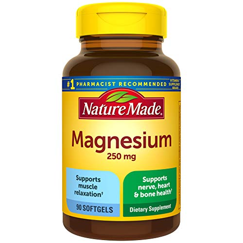 Nature Made Magnesium 250 mg Softgels, 90 Count for Nutritional Support