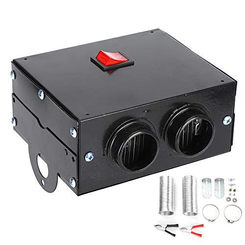 EBTOOLS Auto-Heizlüfter, 600W Wärmekühlventilator Auto Heizung Windschutzscheibenentfroster 12V/24V Portable Defroster Demister mit 2 Ausgangslöchern, 14.8 x 11.5 x 6.5 cm (24V)