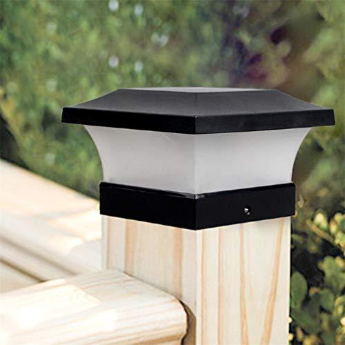 LHY LIGHT Solar Außen Sockelleuchte, Outdoor-Landschaftsbeleuchtung Garten Post Cap Lampe 28 LEDs wasserdicht Zaun Pfad Deck Square Decor Licht