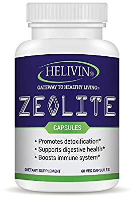 Helivin Zeolite Capsules for Detoxification – No Magnesium Stearate or Other Fillers - Veggie Capsules from Helivin