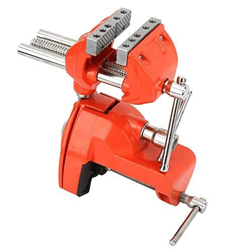 Abrazadera tornillo de banco de 2,8 pulgadas de ancho de mandíbula ajustable mini giratorio para el procesamiento de metales