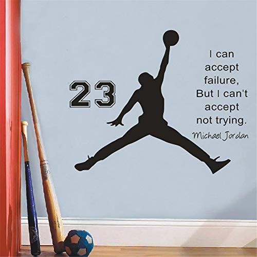 Michael Jordan Basketball Inspirationa Wal Aufkleber Zitate Wand Kinder Kinderzimmer Wandtattoo Kinderzimmer Wandtattoo Schlafzimmer