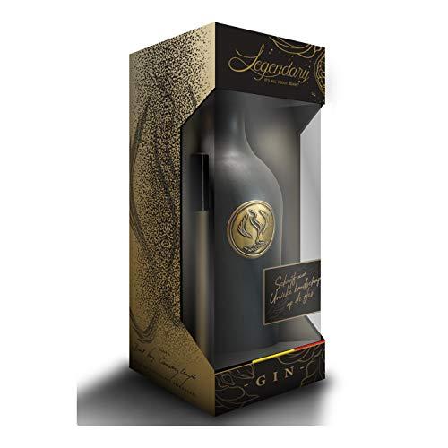 Legendary – It's All About Beans DIAMOND – PREMIUM GIN in schwarzem Krug   Dieser schon legendäre Gin mit der perfekte Balance   1 x 0.5 l 40% Vol