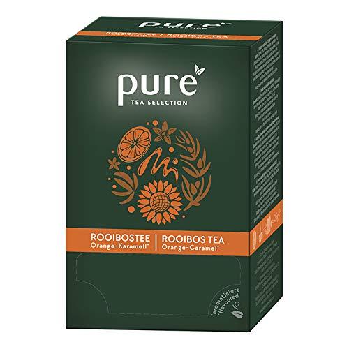 Pure Tea Selection Rooibos Orange Karamell | Kräutertee | 25 Teebeutel aus Maisstärke gewebt und industriell kompostierbar | 25 x 3g
