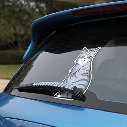 Etiquetas engomadas de la decoración exterior del Parabrisas del vehículo posterior del coche limpiaparabrisas reflectante autoadhesivo Ceño gato en movimiento de la cola del vinilo de la etiqueta eng
