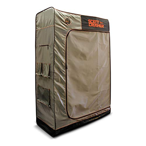 The Locker by Scent Crusher - Includes a Battery Operated Portable Ozone Generator, Destroys Odors Within 30 mins, Great Storage & Scent Elimination for Your Hunting Gear