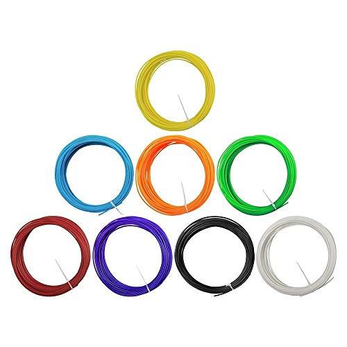 JIALUN ZFX-DAYIN, 1pack 3D Pen Filament Refills ABS/PLA 1.75mm Kunststoff Gummi-Verbrauchsmaterial-Material 3D Feder Filament 12 (Color : 12 Color PLA)