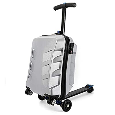 "21"" Suitcase Scooter Travel Carry Luggage Threes Wheels Case Scooter Luggage"