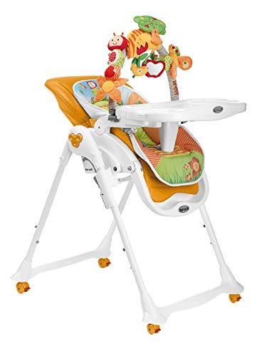 Seggiolone Pappa Brevi B Fun seduta in ecopelle e Arco Giochi 0mesi+ Arancio