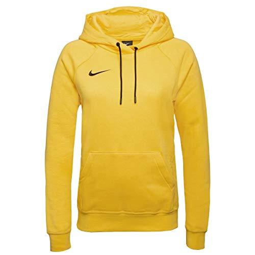 Nike Women's Team Club 20 Hoodie Felpa con Cappuccio, Giallo/Nero/Nero, XL Donna