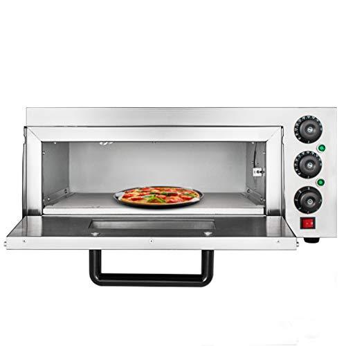 GIOEVO 2KW Forno Elettrico per Pizza Professionale a Ponte Singolo 11,5 Pollici Forno per Pizza con Cassetto per Pizza Dedicato Fornello per Pizza Elettrico in Acciaio Inossidabile (22,2 x 20,6 x 11,5