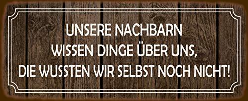 Generisch Cartel de chapa con texto en alemán