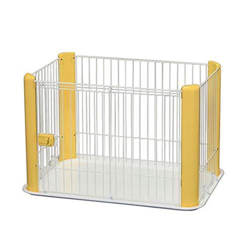 TIKEN Pet Box Puppy Box Whelping Pen Dog Cage Puppy Crate,Yellow