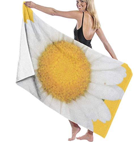 Toalla De Playa Toalla De Baño Ligera De Microfibra De Microfibra De Color Amarillo Brillante para Senderismo Yoga Gimnasio Deportes Natación Camping Baño Vacaciones 80X130Cm