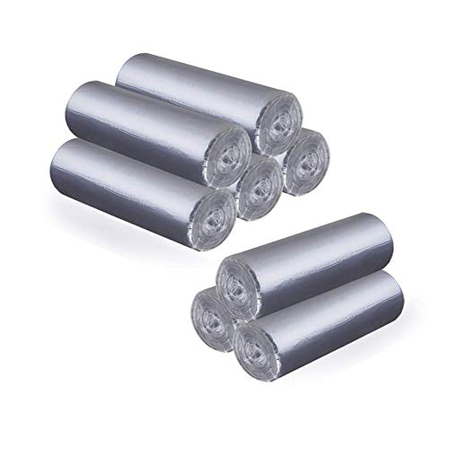 Small Trash Bags 4 Gallon Trash Bags Bathroom Kitchen Unscented Thick Plastic Garbage Bags for Bedroom Restaurant Office Trash Can Liners (Grey 8 roll total 240pcs)
