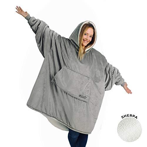 THE COMFY - Die Decke, das auch EIN Sweatshirt ist. Weiches und gemütliches Kuscheldecken-Sweatshirt, Einheitsgrösse, (grau)