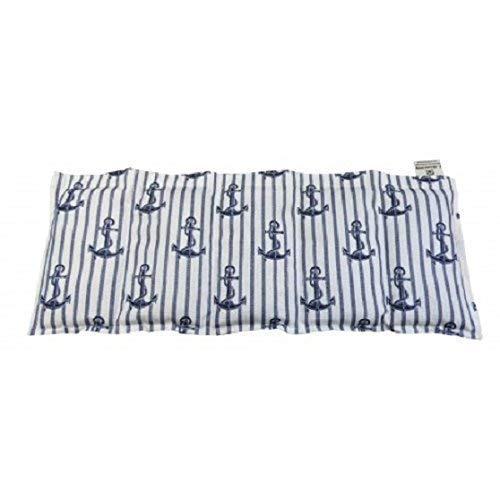 Kissenscheune Körnerkissen natur Kühlkissen Hirsekissen Wärmekissen Hirse Anker beige/blau 50x20 100% Baumwolle 200g/qm