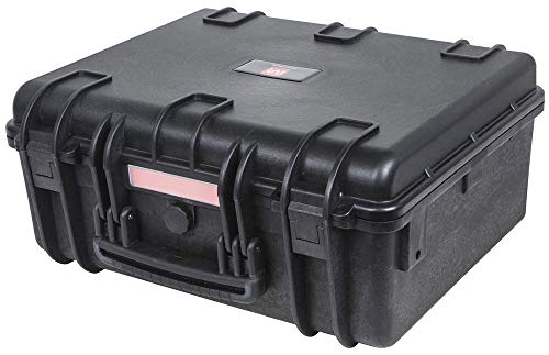 """Monoprice Weatherproof / Shockproof Hard Case - Black IP67 level dust and water protection up to 1 meter depth with Customizable Foam, 19"""" x 16"""" x 8"""""""