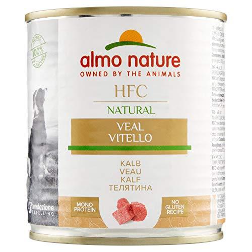 almo nature Comida Húmeda para Perros Natural de Ternera (12 latas x 290 g). Alimento para Perros Monoproteíco Enlatado HFC Cuisine. Snack Complementario sin Gluten. ⭐