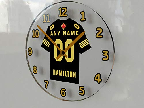 CFL Canadian Football League Jersey Wanduhr???CANADIAN AMERICAN FOOTBALL???Jeder Name und Nummer, Sie. - HAMILTON TIGER-CATS CFL CLOCK