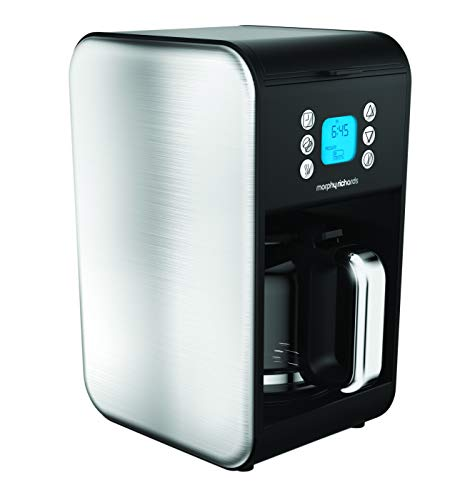 Morphy Richards Accents Independiente Totalmente automática - Cafetera (Independiente, Cafetera combinada, 1,8 L, De café molido, 900 W, Acero inoxidable)