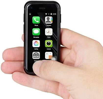 Super Small Mini Smartphone 3G Dual SIM Mobile Phone 1GB RAM 8GB ROM 5.0MP Quad Core Dual Standby Unlocked Small Phones Kids Phone Pocket 2.5 Inch Android Mini Cellphone (Black)