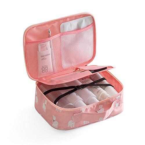 Bagagerie Cosmétique Bag_Cosmetic Coréen Simple Grande Capacité Multifonctionnel Fille De Toilette Cœur, Un Alpaga Rose