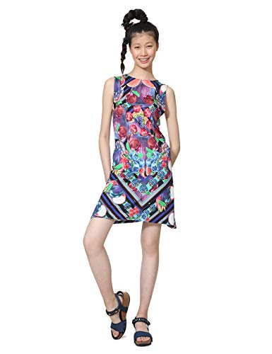 Desigual Damen Dress Sleeveless Nika Woman Blue Kleid, Blau (Marino 5001), Medium