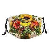Herbstliche Blumen, Half Face Mundschutz Anti Dusts Baumwolle Winddichte wiederverwendbare Sturmhaube für Frauen Männer