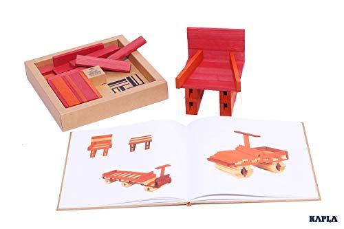 KAPLA 40 Steine, rot und orange + Buch - 5