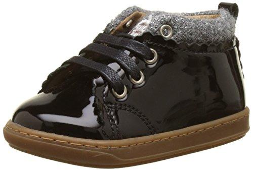 Shoo Pom Bouba Wool, Baby Mädchen Babyschuhe - Lauflernschuhe, schwarz - Schwarz (Schwarz/Grau) - Größe: 22