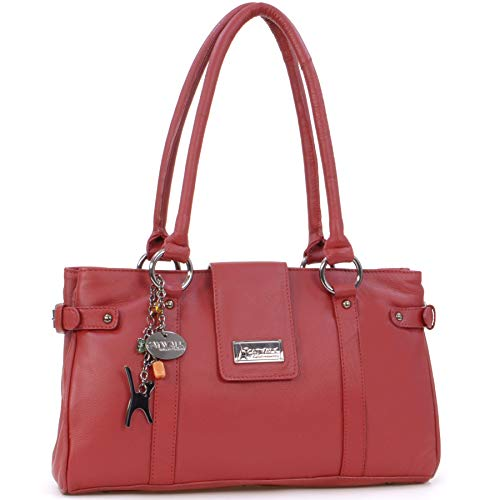 CATWALK COLLECTION - MARTINA - Bolso de mano - Cuero - Rojo