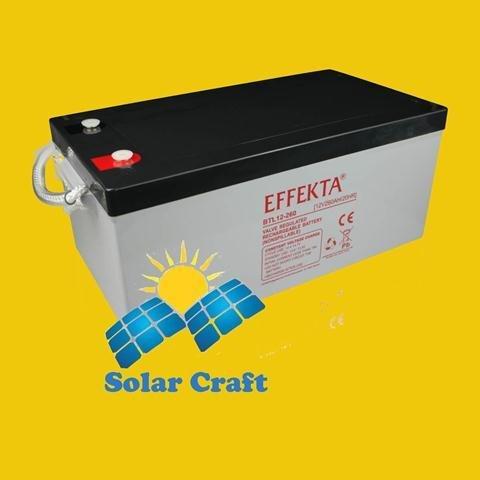 Gel-Akku 12V 260Ah AGM Solarpanel Ladegerät Energie photoviltaique