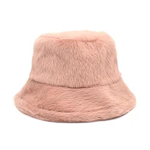 WSMYG Cappello da Pescatore Cappello da Pescatore Cappello da Pescatore Cappello da Pesca All'Aperto Moda Spesso Morbido Caldo Rosa