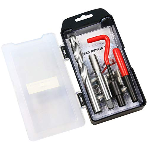 Highking Tool Thread Repair Kit, M14 x 1.25 mm Metric Thread Repair Insert Kit Compatible Hand Tool Set for Auto Repairing (M14X1.25)