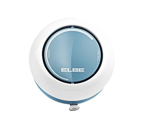 Elbe DR-1308 Radio de Ducha, Radio FM Auto scan, ipx4 contra Salpicaduras, Altavoz Incorporado, Control de Volumen, ventosas para Fijar en Pared, Funciona con Pilas, Color Blanco Azul