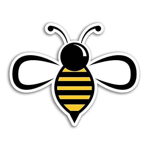 2 pegatinas de vinilo de 10 cm de ancho, diseño de abejorro de insectos para niños y ciencias de la naturaleza #29945