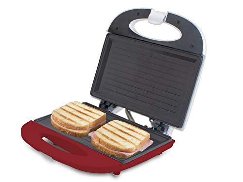 BEPER 90.485H/RED Sandwichera tostadora, 700 W, Aluminum, Blanco y rojo