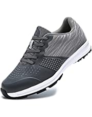 Golfschoenen voor heren,waterdichte Golf Shoes Men Outdoor antislip Ademende slijtvaste spijkervrije zachte bodem dames golfschoenen - sneakers