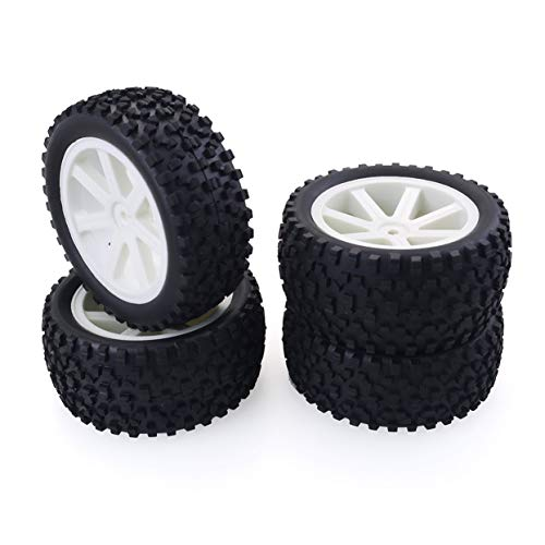 ShenyKan 4PCS 1/10 RC Car Rubber Tyres Plastic Wheels for Redcat HSP HPI Hobbyking Traxxas Losi VRX LRP ZD Racing 1/10 Buggy