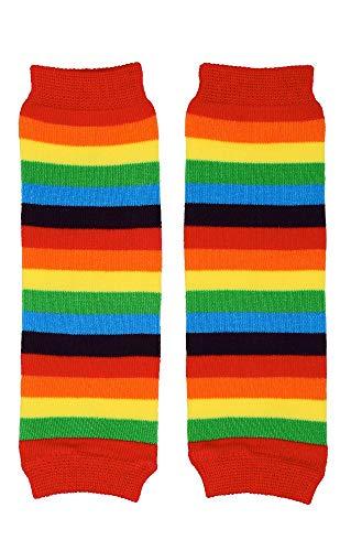 juDanzy Newborn Rainbow Stripe Baby Girl or Boy Leg Warmers - up to 12 Pounds